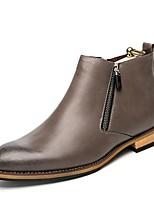 Для мужчин Ботинки Удобная обувь Ботильоны Формальная обувь Обувь для дайвинга Весна Осень Искусственное волокно Повседневные Молнии На