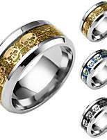 Men's Women's Band Rings Chrismas Titanium Steel Skull / Skeleton Jewelry For Daily