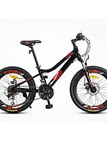 Bicicleta de Montaña Ciclismo 21 Velocidad 22 pulgadas Shimano Doble Disco de Freno Horquilla de suspención Cuadro de Aleación de Aluminio