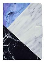 Capa de couro de mármore padrão com slot para cartão para amazon kindle fire hdx 7 polegadas tablet pc