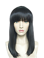 Black Wig Long Straight Women Synthetic Fiber Wig Costume Wig