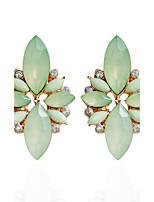 Rhinestone Stud Earrings Drop Earrings Hoop Earrings Earrings Jewelry Women Wedding Party Daily Alloy Rhinestone 1 pairAqua Light Pink