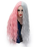 Women Synthetic Wigs Capless Long Loose Wave Pink / Purple Natural Wig Party Wig Halloween Wig Carnival Wig Costume Wig