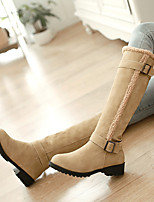 Women's Shoes PU Nubuck leather Fall Winter Comfort Boots For Casual Black Yellow Brown