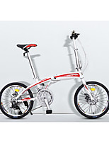 Bicicletas plegables Ciclismo 16 Velocidad 20 pulgadas Microshift 24 Disco de Freno Sin Amortiguador Cuadro de Aleación de Aluminio Doblez