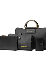 Women Bags All Seasons Other Leather Type Bag Set with for Casual Black Red Gray