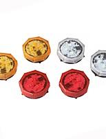 2PCS Car Door Open Flashing Led Warning Light Strobe Light Red Light Battery Power For Universal Car VW Volkswagen Ford Toyota