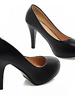 Mujer Zapatos PU Primavera Otoño Confort Tacones Para Casual Blanco Negro Morado Azul Rosa