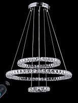 Lustre moderne gradable led éclairage intérieur tendeur plafonnier moderne lumières appliques de chandeliers avec télécommande