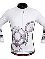 Cycling Jersey Unisex Long Sleeve Bike Jersey Quick Dry Stretchy Breathability Polyester Fashion Spring/Fall Mountain Cycling Road Cycling
