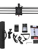 Andoer gp-80qd 80cm fibra de carbono motorizada cámara deslizante Dolly estabilizador de vídeo con seguimiento de la cacerola de enfoque