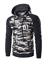 Men's Sports Simple Vintage Hoodie Solid Hooded Inelastic Cotton Long Sleeve Spring Fall