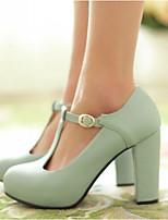 Для женщин Обувь Полиуретан Весна Удобная обувь Обувь на каблуках Назначение Повседневные Черный Зеленый Миндальный