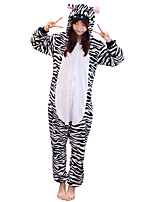 Kigurumi Pajamas Zebra Leotard/Onesie Festival/Holiday Animal Sleepwear Halloween Animal Kigurumi For Couples Unisex Halloween Christmas