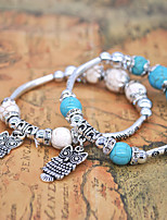Women's Chain Bracelet Bracelet Strand Bracelet Basic Adorable Simple Style Turquoise Alloy Animal Shape Owl Jewelry For Wedding Party