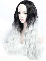 New Arrival Middle Part Natural Loose Wave Ombre Grey Wig for Women Costume Wig Cosplay Wigs