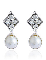 Women's Stud Earrings Rhinestone Basic Hypoallergenic Simple Style Classic Imitation Pearl Rhinestone Alloy Jewelry For Gift Daily Casual