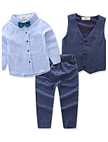 Boys' Solid Sets,Cotton All Seasons Long Pant Clothing Set
