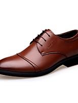 Da uomo Oxford Comoda Di pelle Primavera Estate Autunno Inverno Casual Footing Lacci Basso Nero Marrone Meno di 2,5 cm