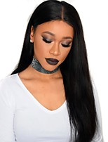 Silk Straight 360 Lace Frontal Wigs with Baby Hair 10''-24'' Peruvian 360 Lace Wigs for African Americans 180% Density Unprocessed Human Hair 360 Wigs