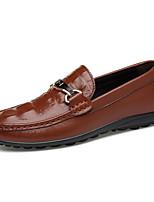Для мужчин Мокасины и Свитер Удобная обувь Светодиодные подошвы Формальная обувь Обувь для дайвинга Натуральная кожа Наппа Leather Кожа