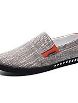 Для мужчин Мокасины и Свитер Удобная обувь Лето Тюль Повседневные На плоской подошве Черный Коричневый Синий На плоской подошве