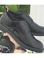 Для мужчин Туфли на шнуровке Удобная обувь Кожа Весна Лето Повседневные Белый Черный Менее 2,5 см