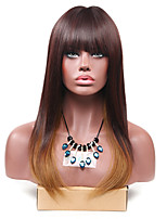 Long Brown Ombre Straight Wigs for Women Costume Cosplay Synthetic Wigs