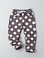 Para Meninos Calças Pontos Polka Outono Algodão