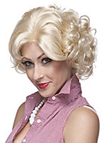 Marilyn Monroe Fashion Curly Wig Cosplay Hair Full Wigs Short Blond Holloween Party Hairstyle Natural Wig Heat Resistant Hair