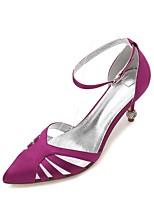 Mujer Zapatos de boda Confort D'Orsay y Dos Piezas Pump Básico Satén Primavera Verano Boda Vestido Fiesta y NochePedrería Purpurina