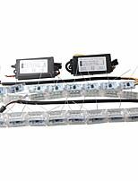 Ziqiao 2x carro flexível branco / amber switchback levou knight rider strip light para farol sequencial flasher dual color drl turn signal