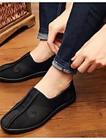 Hombre Zapatos Tejido Primavera Confort Zapatillas de deporte Para Casual Negro