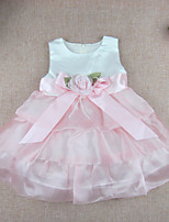 Baby Solid Color Dress,Polyester Summer-
