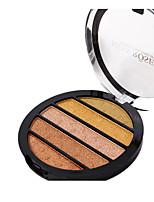 5 Paleta de Sombras Brilho Paleta da sombra Pó Maquiagem para o Dia A Dia Maquiagem de Festa Maquiagem Esfumada