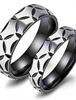 Per uomo Fedine Zirconi Amore Di tendenza Gioielli di Lusso Chrismas Classico Acciaio al titanio Circolare Gioielli Per Feste Compleanno