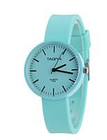 Жен. Модные часы Наручные часы Уникальный творческий часы Китайский Кварцевый Материал силиконовый Группа Конфеты Повседневная Черный