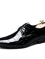 Men's Shoes Synthetic Microfiber PU Spring Fall Comfort Formal Shoes Driving Shoes Oxfords Lace-up For Wedding Casual Office & Career