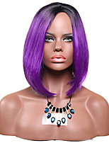Black Ombre Purple Straight Wig for Women Costume Cosplay Synthetic Wigs
