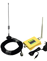 Mini Intelligent GSM980 Cell phone Signal Booster 2G GSM 900mhz Signal Repeater with Omni Antenna / Sucker Antenna Yellow