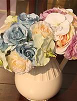 1 Une succursale Plastique Roses Camélia Fleur de Table Fleurs artificielles
