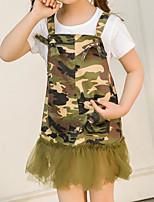 Girls' Camouflage Sets,Cotton Summer Clothing Set