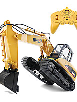 HuiNa 1350 RC Toys 15 Channel 2.4G 1/14 RC Metal Excavator Charging 1:14 RC Car With Battery RC Alloy Excavator RTR