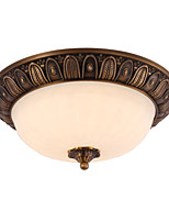 Traditional Artistic Brass 2 Light Flush Mount Ceiling Fixture
