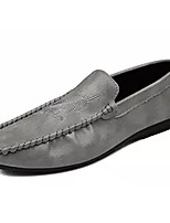 Men's Loafers & Slip-Ons Comfort Spring Fall PU Casual Flat Heel Black Gray Yellow Flat