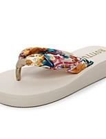 Для женщин Тапочки и Шлепанцы Удобная обувь Светодиодные подошвы Тапочки и шлепанцы Лето Этиленвинилацетат Повседневные Для праздника На