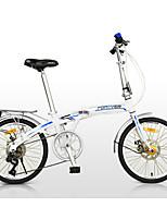 Vélo pliant Cyclisme 7 Vitesse 20 pouces Shimano Frein à Double Disque Ordinaire Pliage Cadre en Alliage d'AluminiumAntidérapant