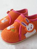 Girls' Loafers & Slip-Ons Walking Vulcanized Shoes Flocking Fall Winter Casual Dress Applique Hook & Loop Flat Heel Purple Flat