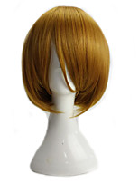 Girl's Blonde Lolita Cosplay Wig Short Straight High Temperature Synthetic Fiber Bob Hair Party Wigs
