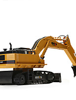 Huina 1510 510 RC Excavator 2.4G 11CH Metal Remote Control Engineering Digger Truck Model Electronic Heavy Machinery Toy